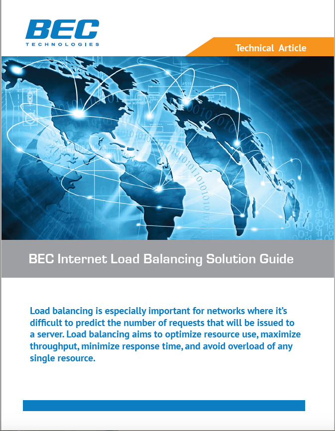 BEC Internet Load Balancing Solution Guide