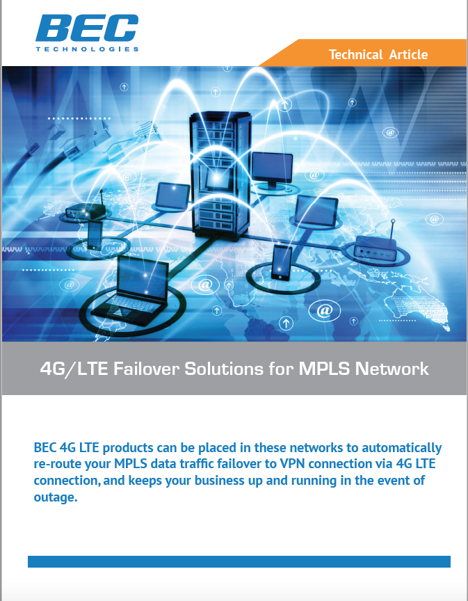 BEC 4G/LTE failover solutions for MPLS Network