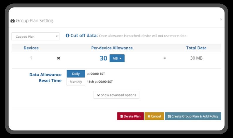 BECentral® Data Control Screen Shot