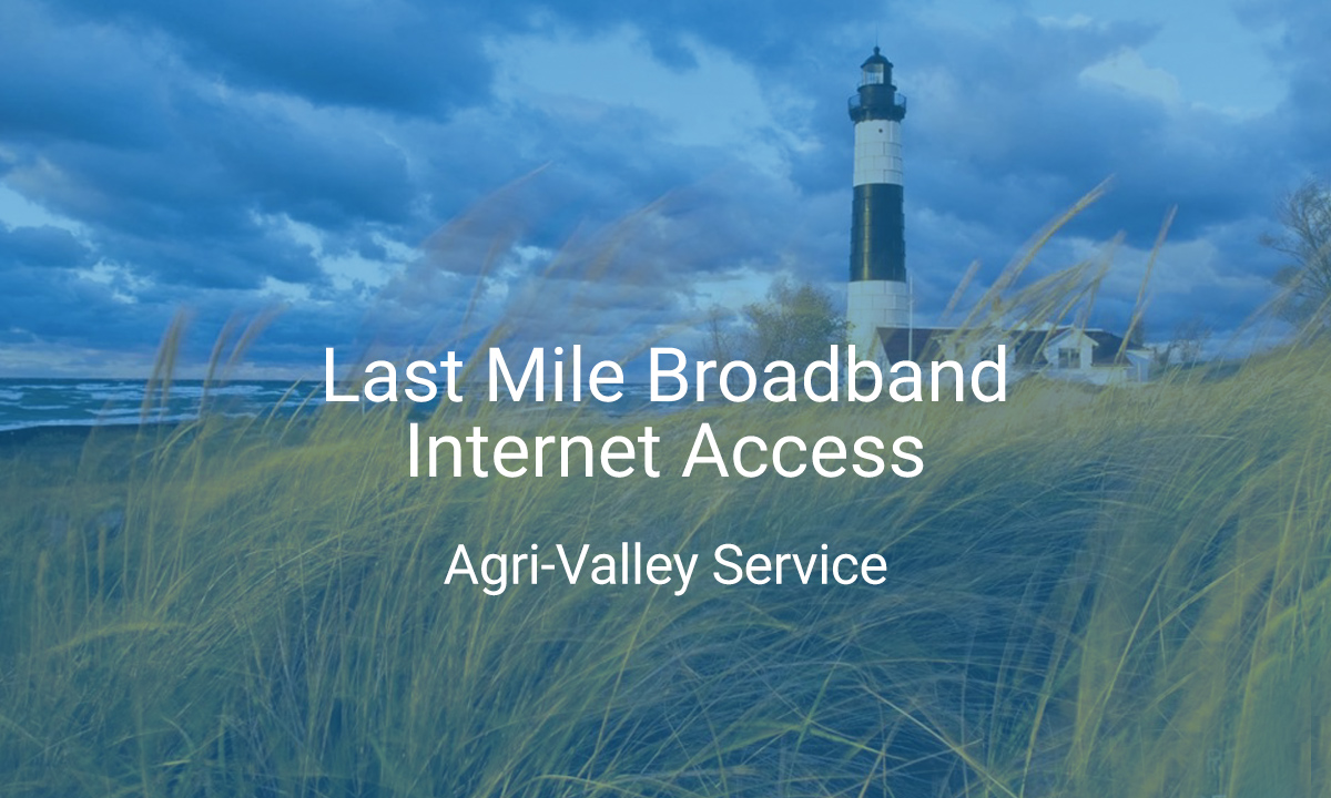 Last mile broadband internet access